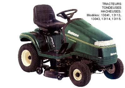Prix tracteur tondeuse bolens